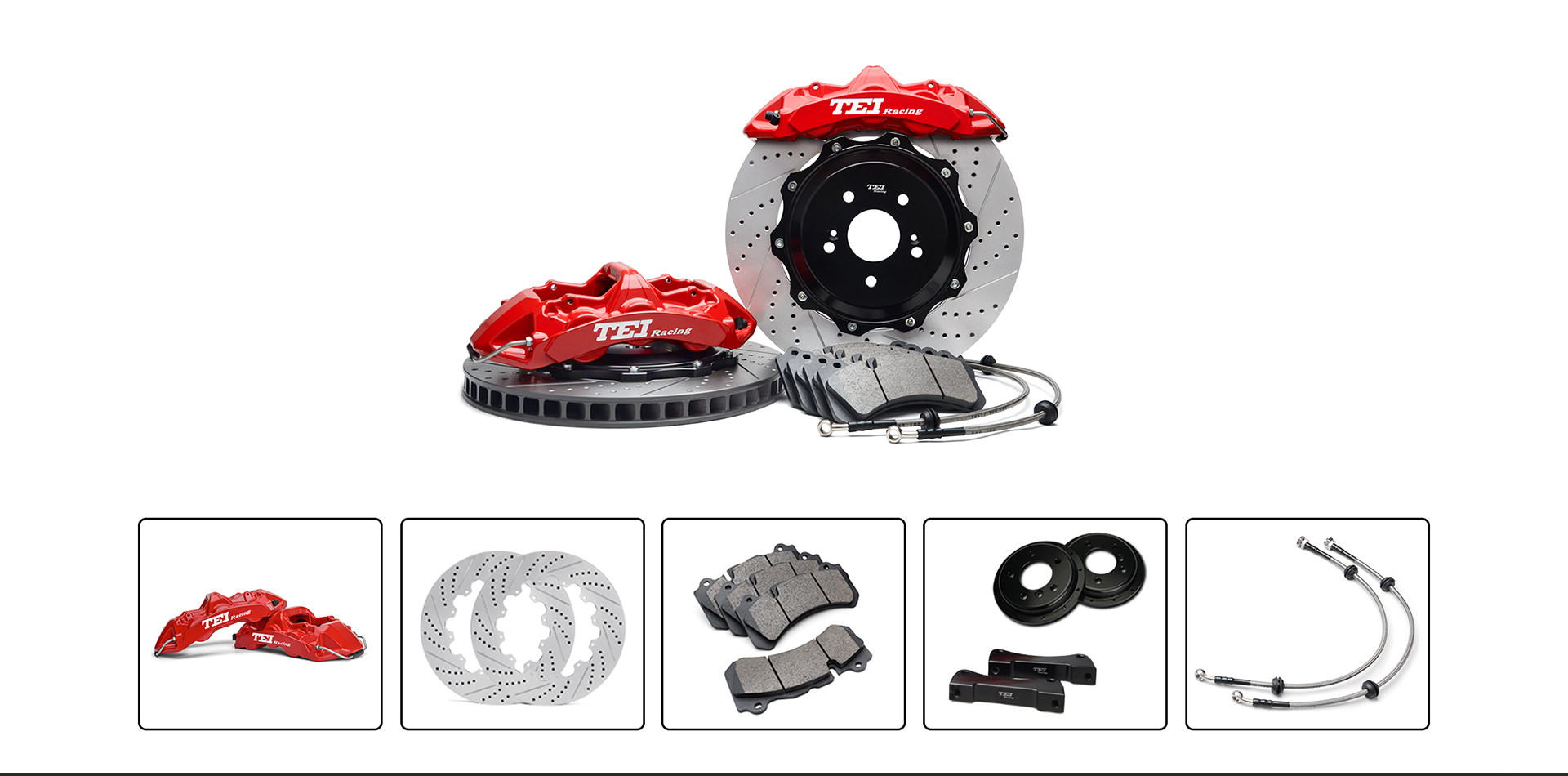 BBK For Honda Accord Big Brake Kit 6 Piston Caliper With 355*32mm Rotor Front Wheel