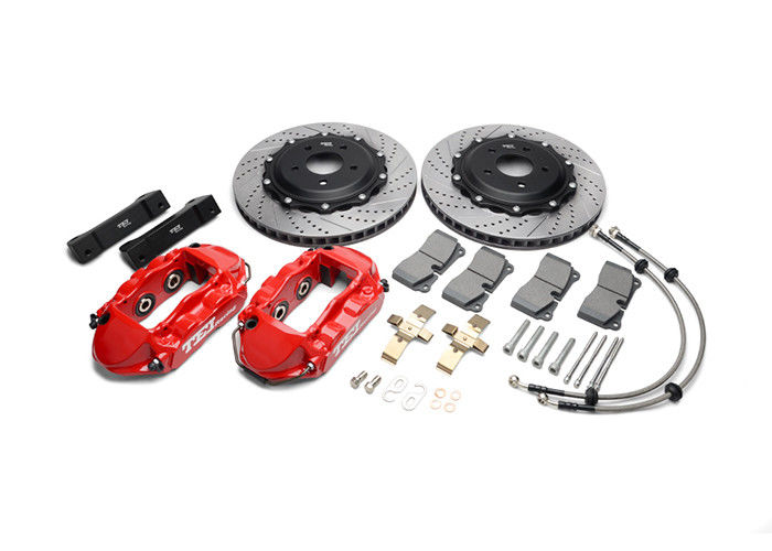 4 Piston Big Brake Upgrade Kit For Performance Cars Rear Wheel
